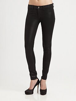 J Brand - 915 Low-Rise Coated Stealth Leggings