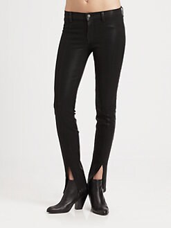 J Brand - Coated Vera Slit Skinny Jeans
