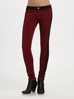 Current/Elliott - The Rider Colorblock Denim Leggings