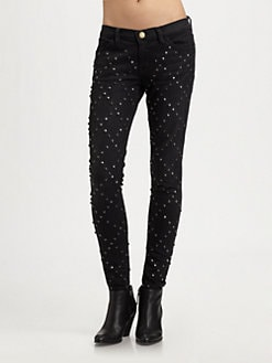 Current/Elliott - The Ankle Studded Skinny Jeans