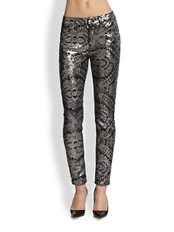 7 For All Mankind - Skinny Sequined Jeans