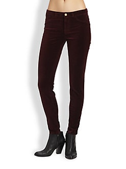 J Brand - Mid-Rise Velvet Leggings
