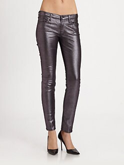 7 For All Mankind - The Skinny Metallic Jeans