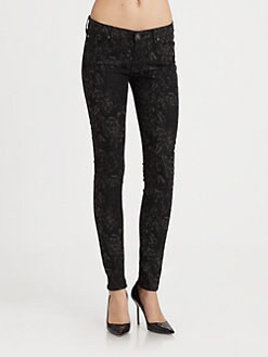 7 For All Mankind - The Skinny Jacquard Jeans