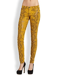 7 For All Mankind - The Skinny Snake-Print Jeans