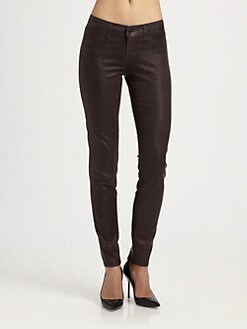J Brand - 915 Low-Rise Coated Skinny Jeans