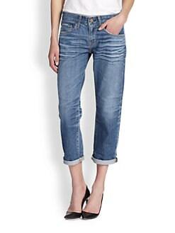 AG Adriano Goldschmied - Ex-Boyfriend Cropped Jeans