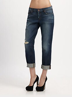J Brand - Aidan Cropped Boyfriend Jeans