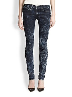 rag & bone/JEAN - Acid-Wash Skinny Jeans
