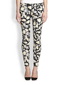 7 For All Mankind - Skinny 28 Floral-Print Jeans