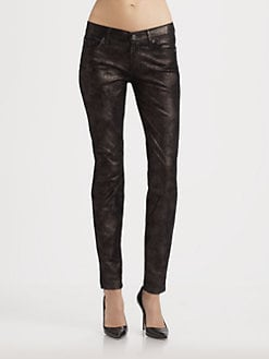 7 For All Mankind - Moon Metal Velvet Skinny Jeans
