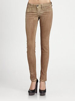 True Religion - Halle Coated Skinny Jeans