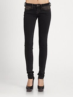 True Religion - Shannon Embellished Skinny Jeans