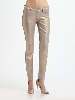 7 For All Mankind - Liquid Metallic Skinny Jeans