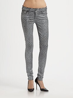 7 For All Mankind - Artisan Tile Laser Skinny Jeans