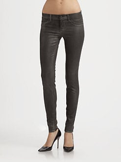 J Brand - 915 Low-Rise Moonwalk Skinny Jeans
