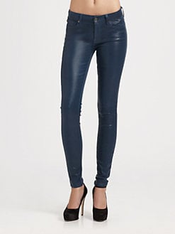 7 For All Mankind - The Slim Illusion High-Shine Skinny Jeans