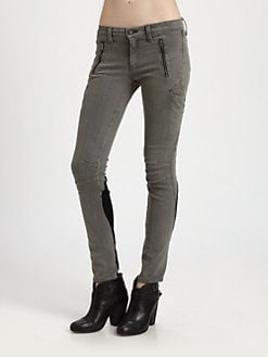 rag & bone/JEAN - Leather-Trim Cargo Jeans