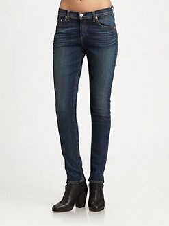 rag & bone/JEAN - Slouchy-Fit Skinny Jeans