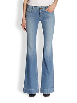 J Brand - Low-Rise Flare Jeans