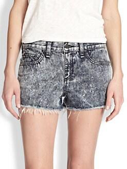 rag & bone/JEAN - Acid-Wash Cut-Off Denim Shorts