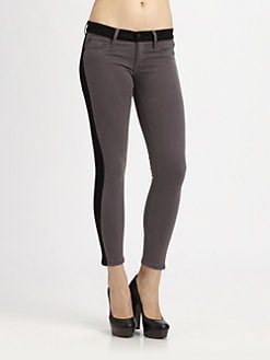 Hudson - Tuxedo-Stripe Skinny Jeans