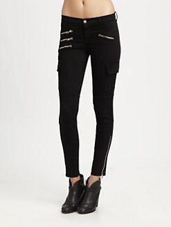 J Brand - Brix Cargo Zip Skinny Pants
