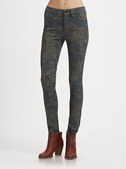 Citizens of Humanity - Rose-Print Skinny Jeans