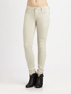 Current/Elliott - The Moto Ankle Skinny Jeans