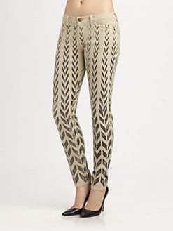 Current/Elliott - The Ankle Printed Skinny Jeans