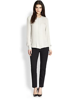 Theory - Edera Silk Double Georgette Blouse