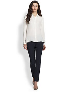 Theory - Driya Silk Double Georgette Blouse