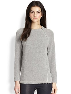 Theory - Cynth Curlicue Stretch Wool Top