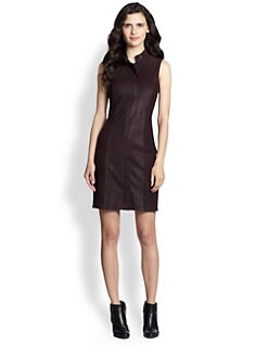 Theory - Race Equalize Leather Dress