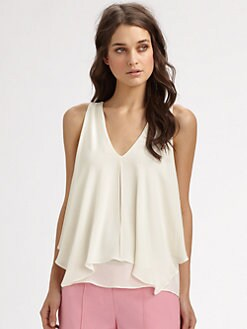Theory - Jantine Silk Georgette Top