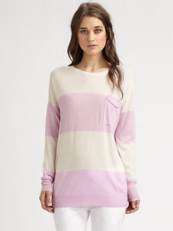 Theory - Tollie Striped Wool Sweater