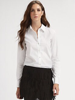 Theory - Larissa Wealth Stretch Button-Down Top
