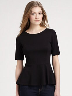 Theory - Defta Peplum Top