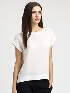 Theory - Sorcha Saleya Silk Top