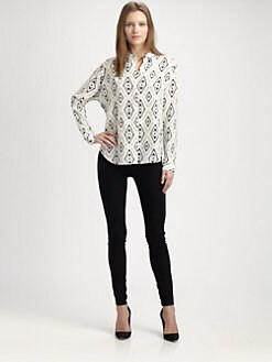 Theory - Aquilina Tribal Print Top