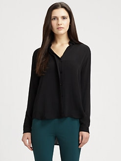 Theory - Aquilina Silk Top