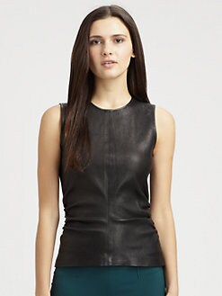 Theory - Addah Danish Leather Top
