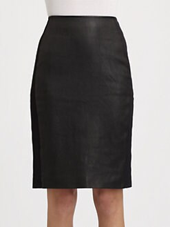 Theory - Brookelle Danish Leather Skirt