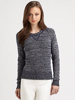 Theory - Alexa Cotton & Cashmere Sweater