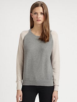Theory - Cinda Cotton & Cashmere Sweater
