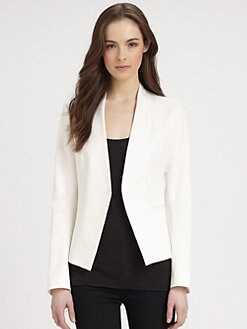 Theory - Cropped Open Front Blazer