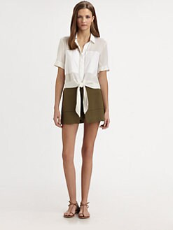 Theory - Ebele Tie Front Top