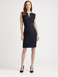 Theory - Rokal Split-Neck Dress