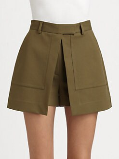 Theory - Caslyn Wrap Front Shorts
