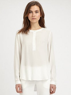 Theory - Mavis Shirttail Blouse